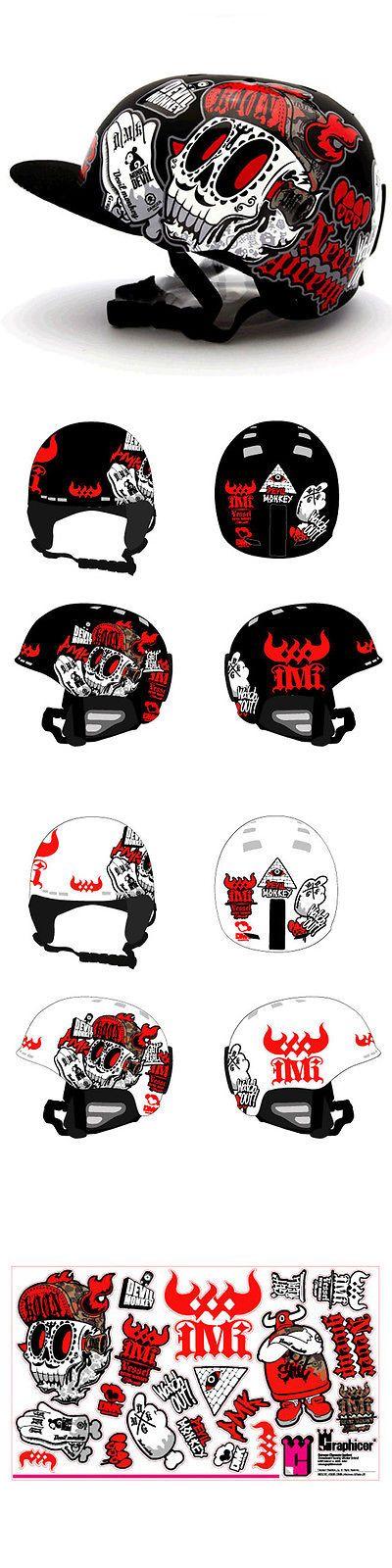 Helmet Accessories 177865: Motorcycle Helmet Decal Sticker Snowboarding Biker Hard Hat - Graphicer Dmk 06 BUY IT NOW ONLY: $38.9