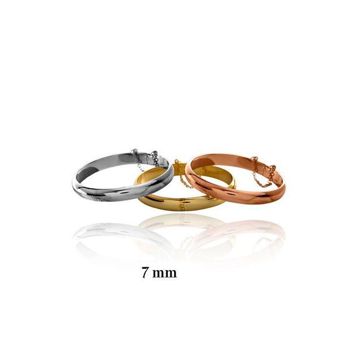 Pulsera plata brazalete estilo media caña. Una pulsera que marca la diferencia. #joyas #pulsera
