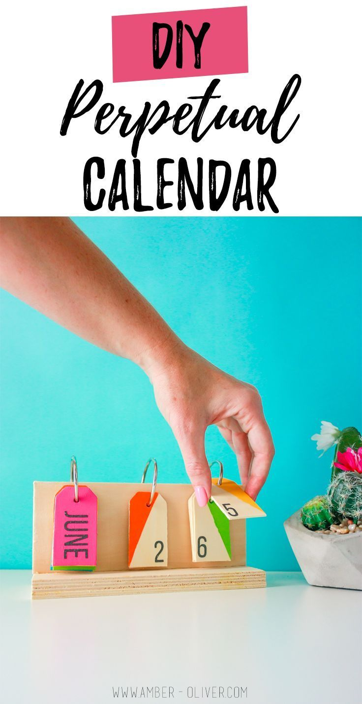 How To Make A Perpetual Calendar A Colorful Desktop Calendar Diy Desk Calendar Diy Calendar Calendar Craft