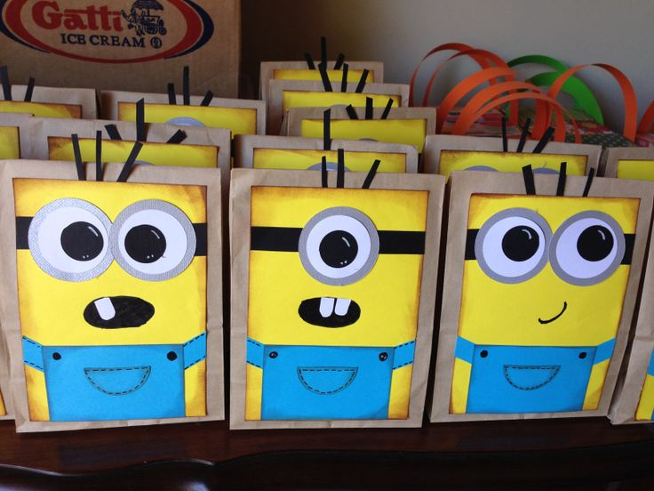 Despicable me treat bags.