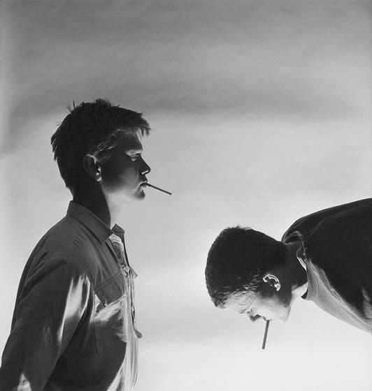 """Tono Stano Photography  """"Two Smokers"""" 1983"""