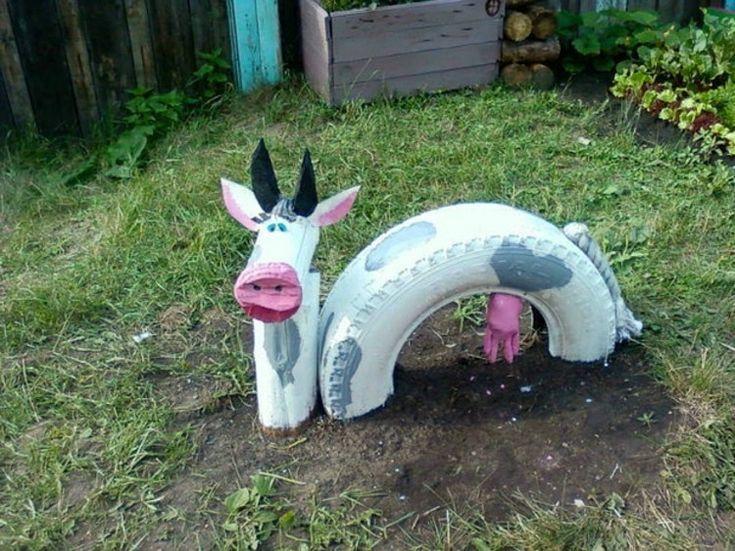 DIY ideas mature Garden Decor cow