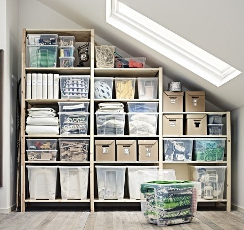 Storage here, there, and everywhere. The IVAR system is flexible enough to fit into any nook or cranny.