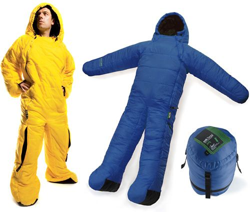 """Sleeping bag makes """"stand to"""" in the morning more bearable."""