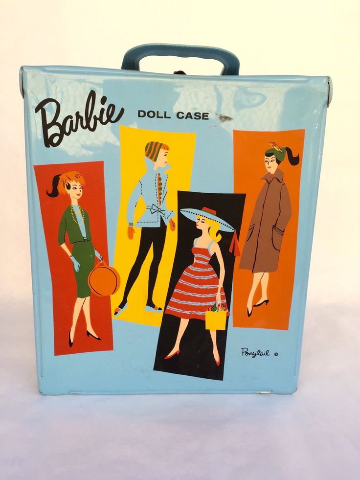 A personal favorite from my Etsy shop https://www.etsy.com/listing/256820807/barbie-ponytail-doll-case-baby-blue-by