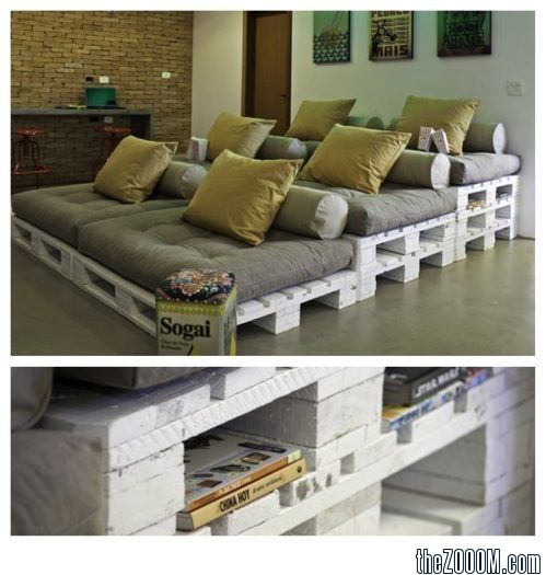Pallet Furniture for the Media Room