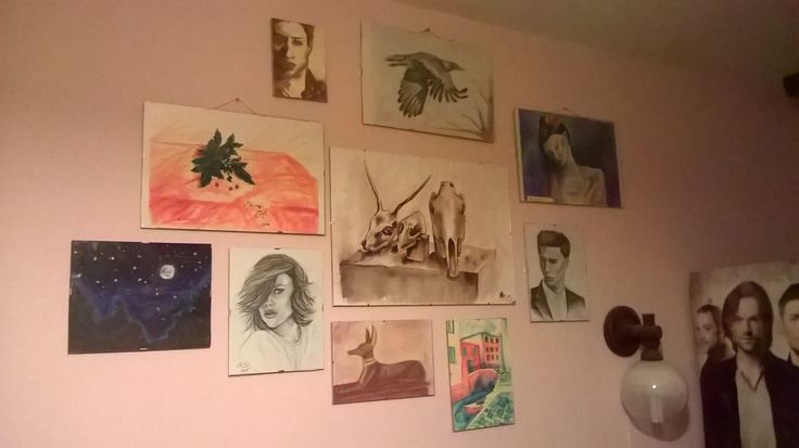 My wall (yep, all by me except the poster- btw spn❤ )