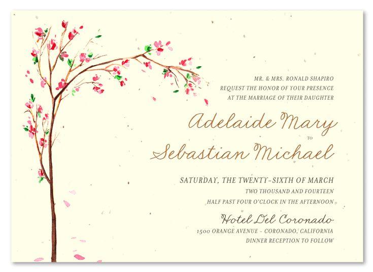 Spring Wedding Invitation ~ Golden Blooms