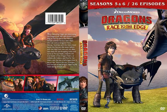 Dragons Race To The Edge Seasons 5 6 Dvd Cover Dvd Covers