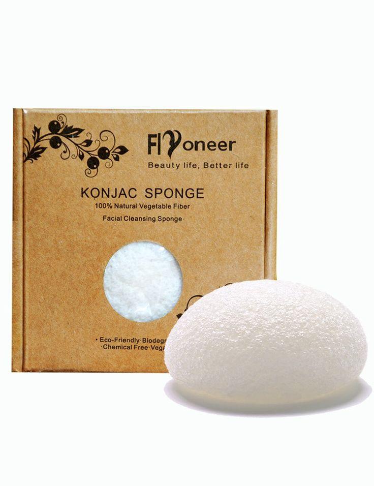 Konjac Sponge -Konjac Facial Puff Sponge Acne- Premium Facial Cleansing Sponge - 100% Natural Sponge Original Pure Facial Sponge - Keep Skin Flexible and Oil Control *** Click image for more details.