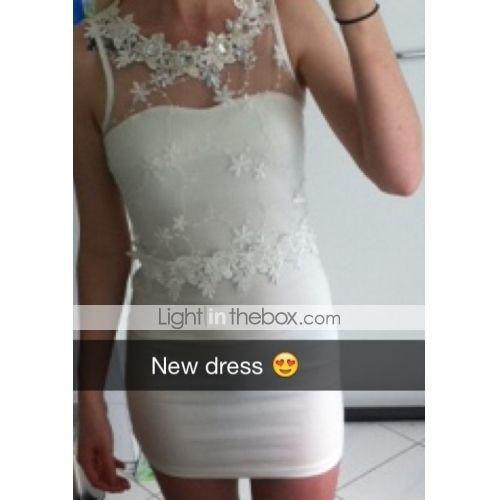 Koreaanse vrouwelijke modellen diamant kant mouwloze sexy jurkje - EUR € 11.99