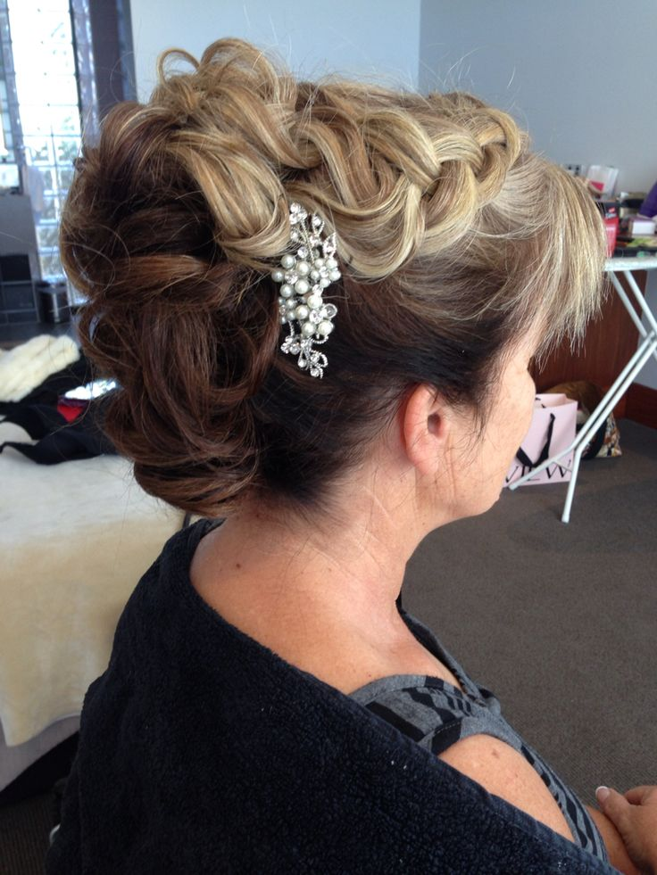 My Sharon Blaine inspired hair style for a mother of the groom