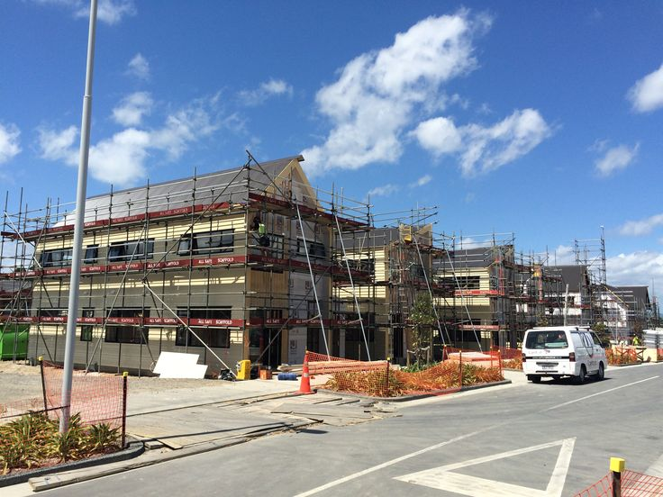 23 January 2015 - Exterior cladding on and splashes of colour starting to pop up!