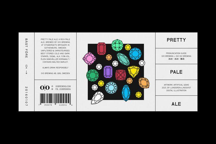 Label for O/O Brewing by Swedish graphic design studio Lundgren+Lindqvist