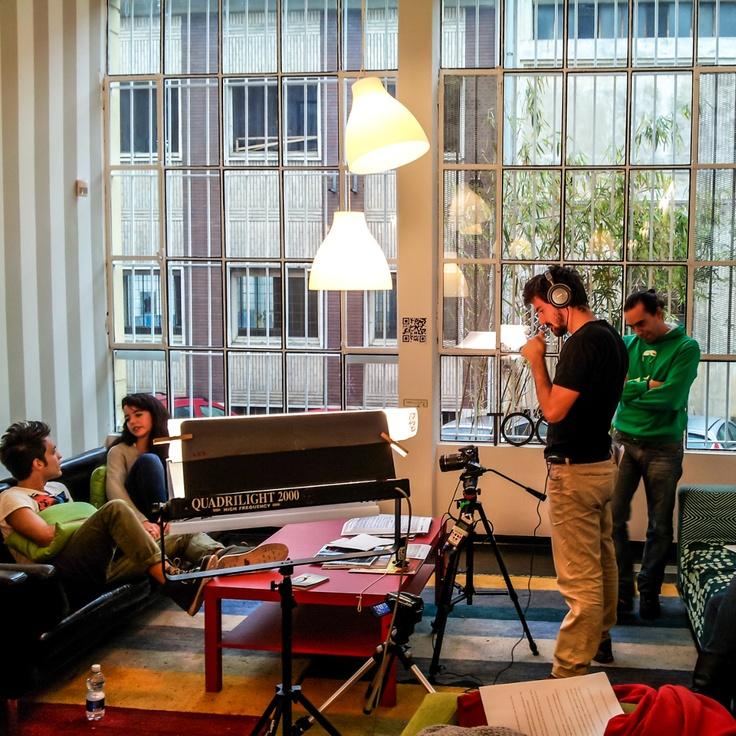 Che cosa combinano Ludovica e Anthony?   Sono le riprese di Take a Walk!   Avete già visto la prima puntata?  http://www.youtube.com/watch?v=Zh-AqT8vofI  #Lacoste