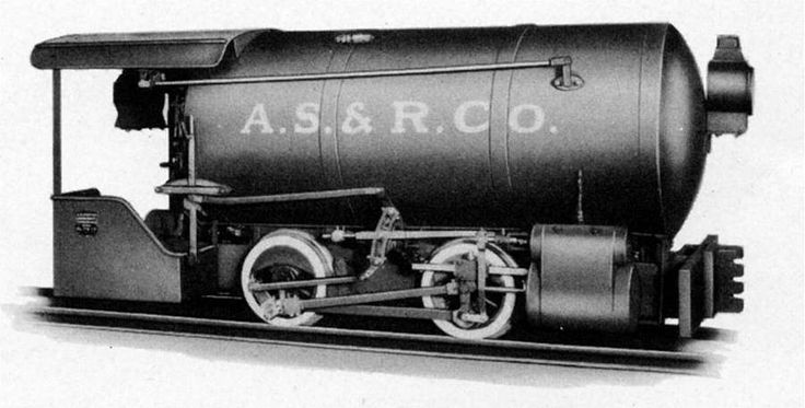 Porter 7-ton Fireless Steam Locomotive, with 10in x 10in cylinders