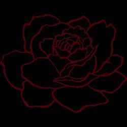 薔薇 イラスト 背景無 単色 - Google 検索