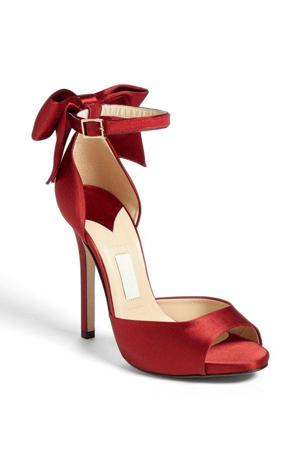 kate spade bow satin heels