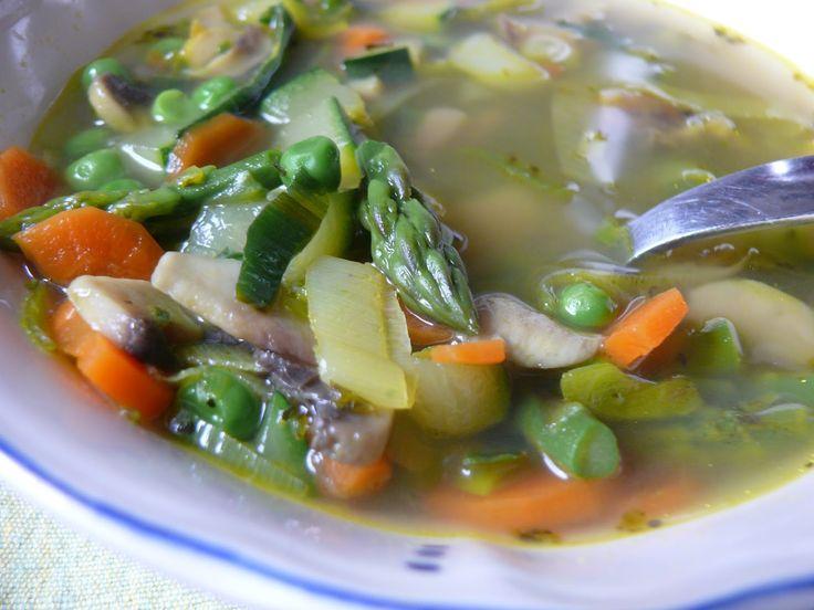 Tavaszi minestrone