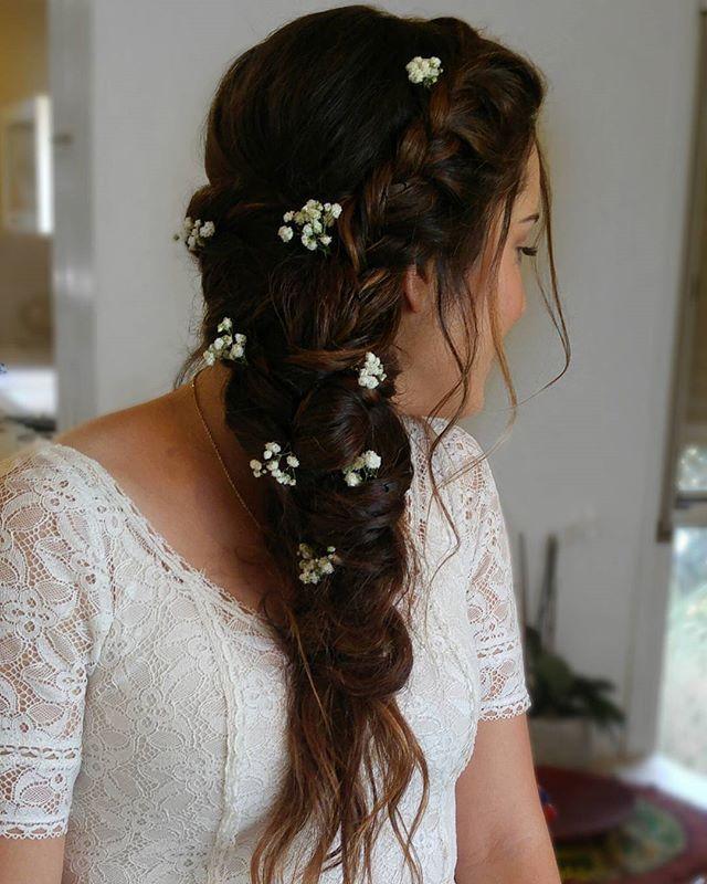 Wedding Hairstyle Messy Braid Elsa Braid Messy Hair Braids Bridal Hair Wedding Hair Hadas Bridal Hairstyles With Braids Messy Hairstyles Messy Braids