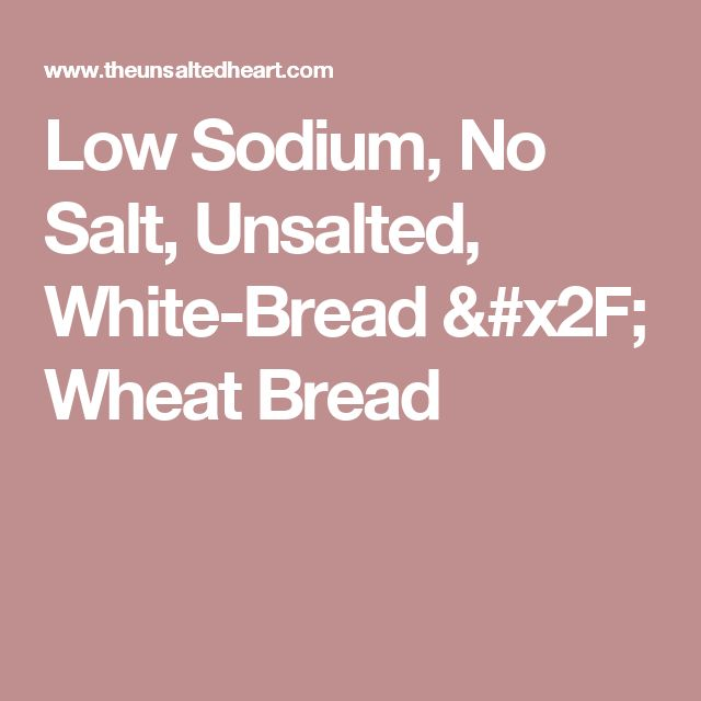 sodium free bread machine recipes