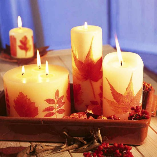 36 best party planning ideas images on pinterest for Fall candle centerpiece ideas