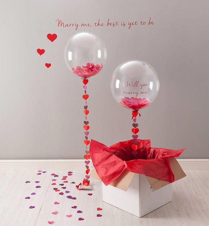 Love this balloon Valentine's proposal idea!  ~  we ❤ this! moncheribridals.com