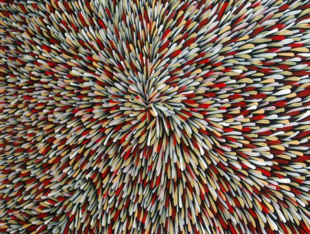 """The Bush Leaf Dreaming"" by Abie Loy Kemarre. Australian indigenous artwork. via Vanessa Edmunds"
