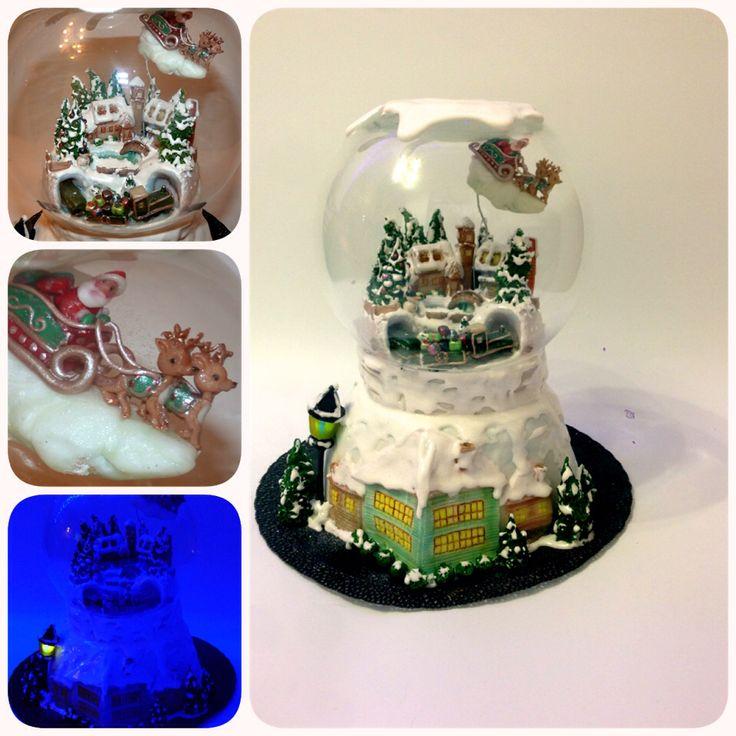 Торт Новогодний снежный шар