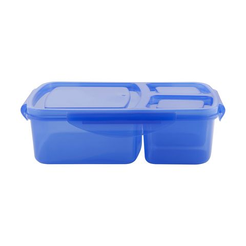 3 Compartment Lunch Box - Blue
