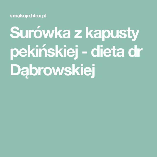 Surówka z kapusty pekińskiej  - dieta dr Dąbrowskiej
