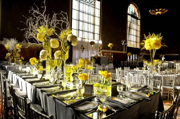 Bright and Sunny Yellow.  reception wedding flowers,  wedding decor, wedding flower centerpiece, wedding flower arrangement, add pic source on comment and we will update it. www.myfloweraffair.com can create this beautiful wedding flower look.