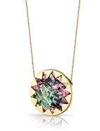 House of Harlow 14 Karat Plated Abalone Sunburst Pendant #davidjones #houseofharlow #jewellery #pendent @House of Harlow 1960 #gift