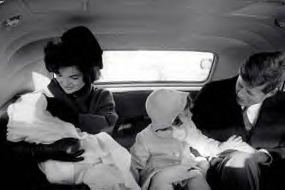 Feb, 1961-the children returning to the White House from Palm Beach after the inaugural events