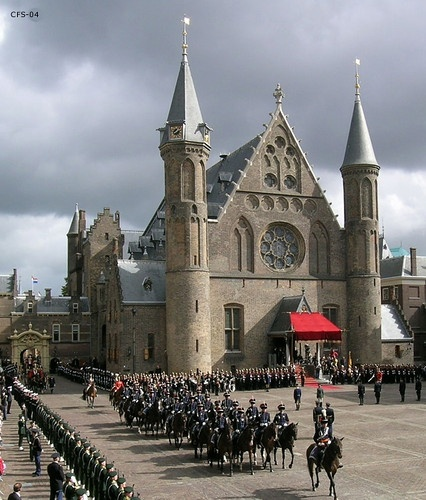 Binnenhof at Den Haag  prinsjesdag,The Netherlands