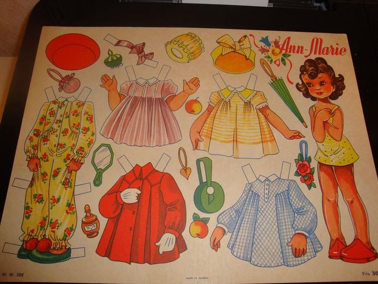 Klippdocka: Ann-Marie på Tradera.com - Klippdockor   Samlarbilder  