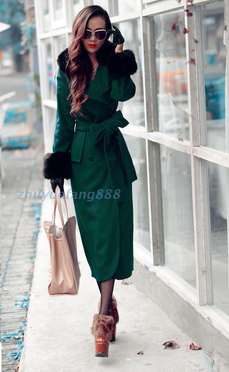 2015 новинка европейский стиль высокое качество женские зимние пальто меховой воротник тонкие бедра теплый длинные пальто Большой размер S2405 купить на AliExpress