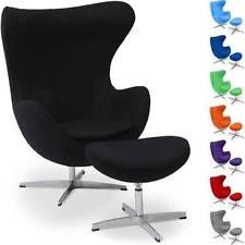 Poltrona egg chair ottomano Arne Jacobsen replica cashmere lana girevole