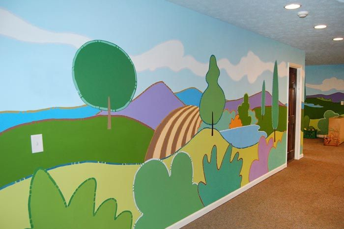 35 best images about church nursery makeover on pinterest for Christian mural