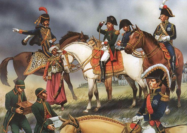"""Napoleon at his hedquarters staff"""