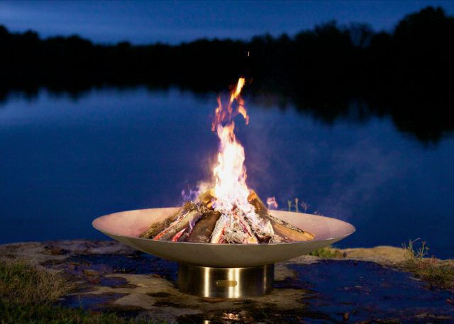 """The Fire Pit Store - Fire Pit Art Bella Vita 58"""" Stainless Steel - BV58, $3,280.00 (http://www.thefirepitstore.com/fire-pit-art-bella-vita-58-stainless-steel-bv58/)"""