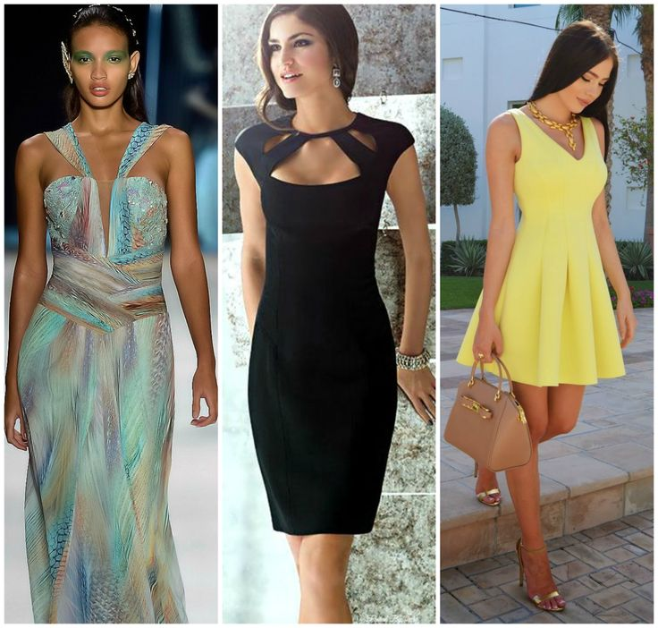 Outfits for hourglass figure. Yellow midi dress, little black dress, colourful maxi dress. Learn how to dress your hourglass figure >>> http://justbestylish.com/how-to-dress-the-hourglass-figure/2/