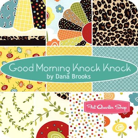 Good Morning Knock Knock Fat Quarter Bundle: Color, Good Morning, Fat Quarter