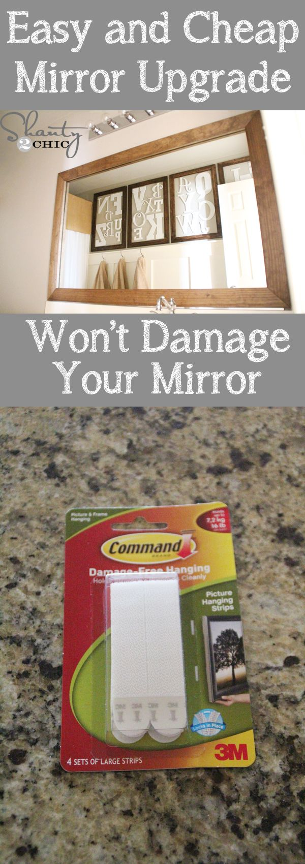 Cheap and easy way to upgrade a builder mirror!  Wont damage mirror!