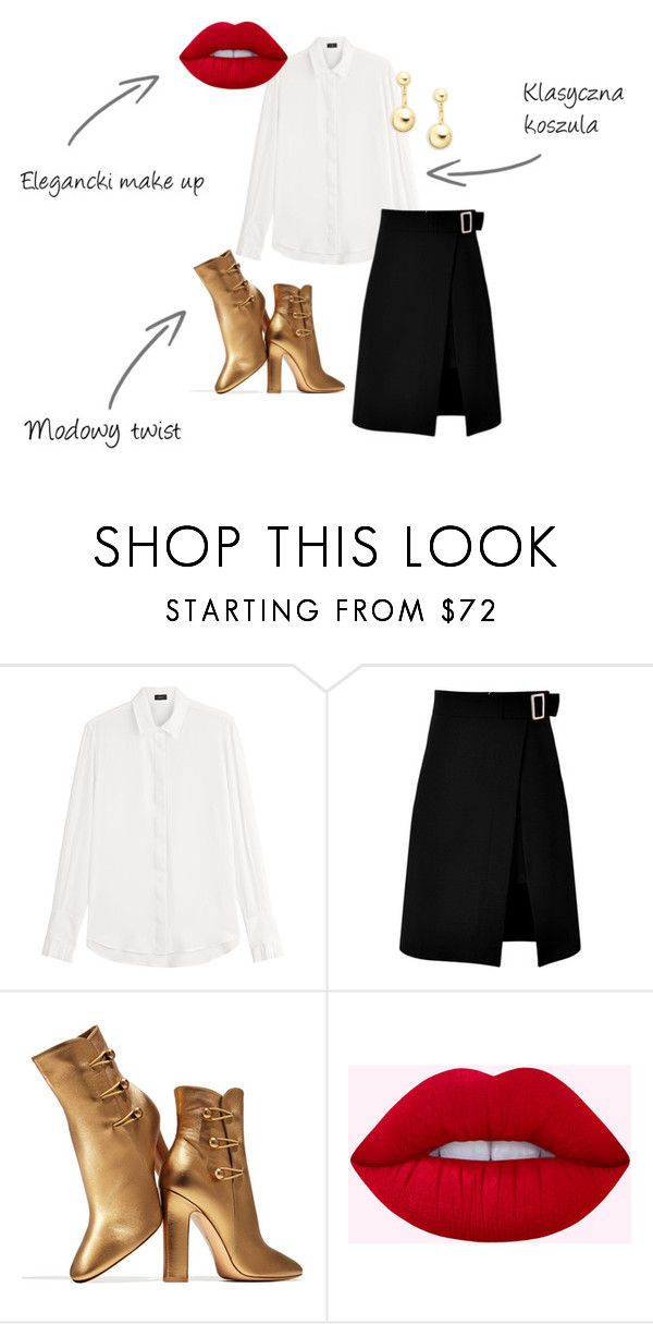 """Christmas eve"" by thealine2014 on Polyvore featuring moda, Joseph, storets, Gianvito Rossi i Trina Turk"