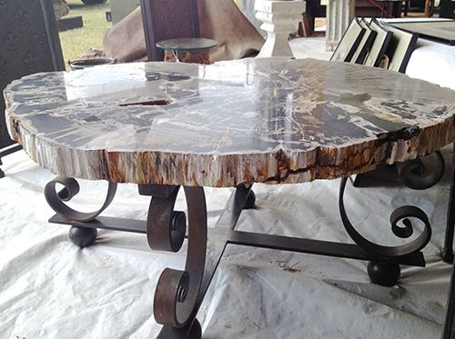 Petrified Wood Slab Coffee Table by reworks - 54 Best Images About Petrified Wood Table On Pinterest Furniture