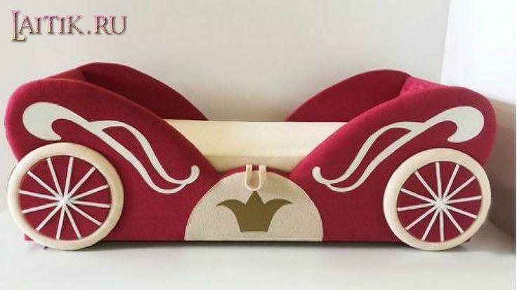 """Детский диван кровать """"Карета"""" для девочки. Мягкая модульная мебель. Инт..."""