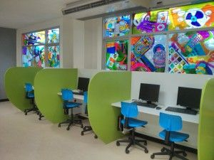 Computer Room Design best 25+ computer lab design ideas on pinterest | eclectic wall
