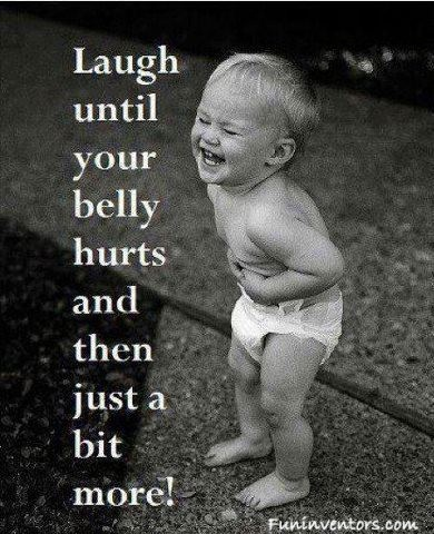 Just keep laughing...
