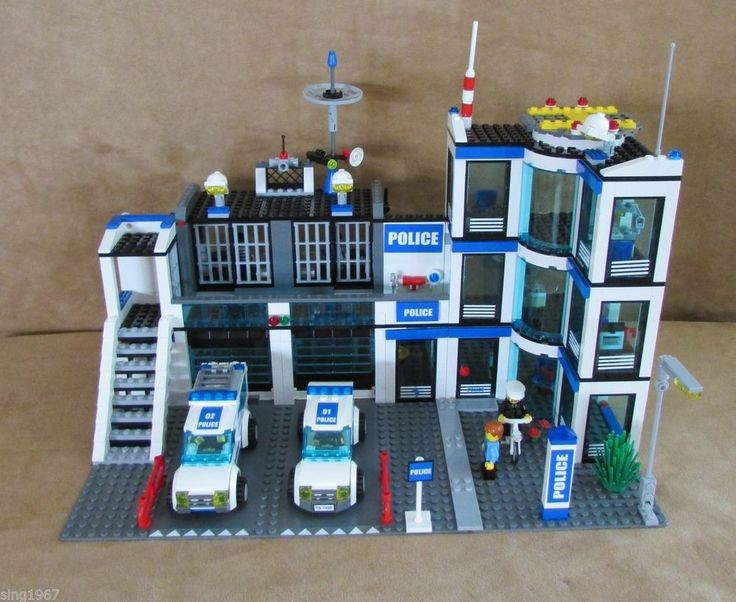 7498 Lego City Police Station complete helicopter pad ...